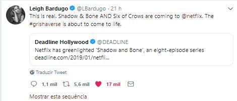 leigh bardugo tweet
